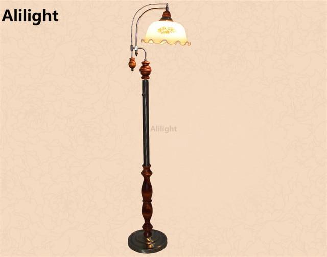 Europeo retrò lampade da terra da giardino basamento luci di