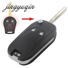 jingyuqin 2 Button Smart Flip Folding Remote Key Case Shell Fob For NISSAN Cube Micra Qashqai Juke