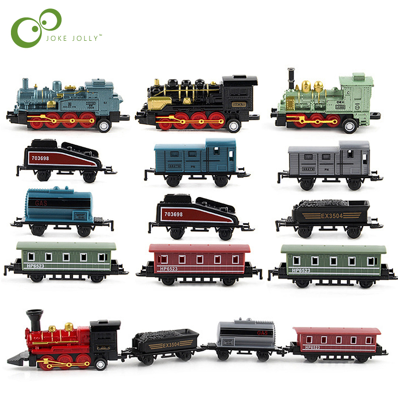 Toys & Hobbies Classic Toys Plastic Toys Train Pull Back Train Model Toy Classical Alloy Retro Simulation Steam Train For Children Educational Toys