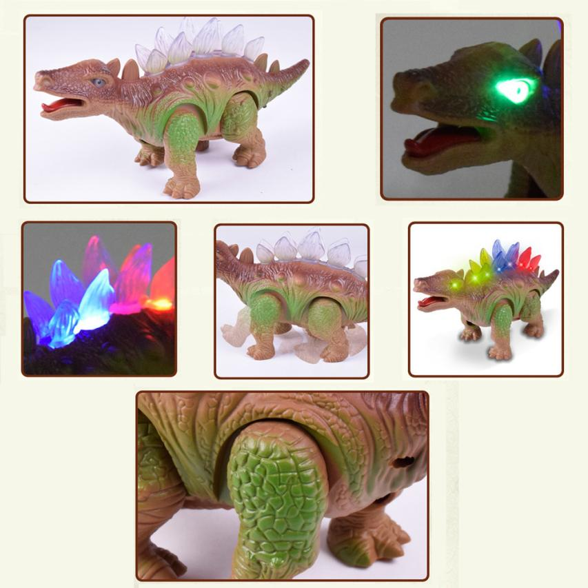 HIINST Light Up Dinosaur Electronic Walking Robot Roaring Interactive Dino Toy toys for children apr3HY