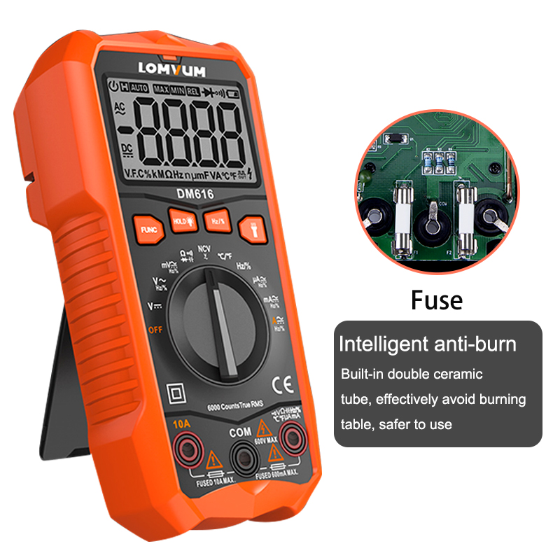 Image 5 - LOMVUM NCV Digital Multimeter 6000 counts Auto Ranging AC/DC voltage Meter Flash Back light Large Screen Ohm Tester Polimetro-in Multimeters from Tools