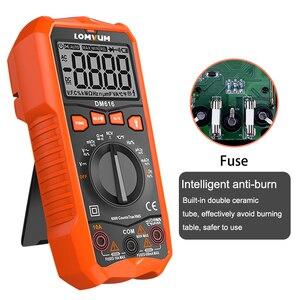Image 5 - LOMVUM NCV Digital Multimeter 6000 counts Auto Ranging AC/DC voltage Meter Flash Back light Large Screen Ohm Tester Polimetro