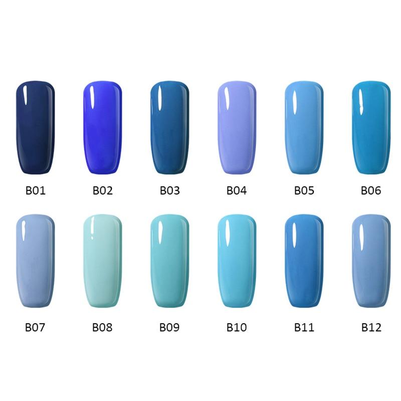 12stk / Lot 10ml UV Gel Nail Polish Colors Serie Soak Off LED - Negle kunst - Foto 2