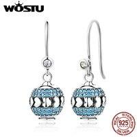 2018 NEW Design 100 925 Sterling Silver DIY Drop Earrings For Women Luxury Authentic Original Jewelry