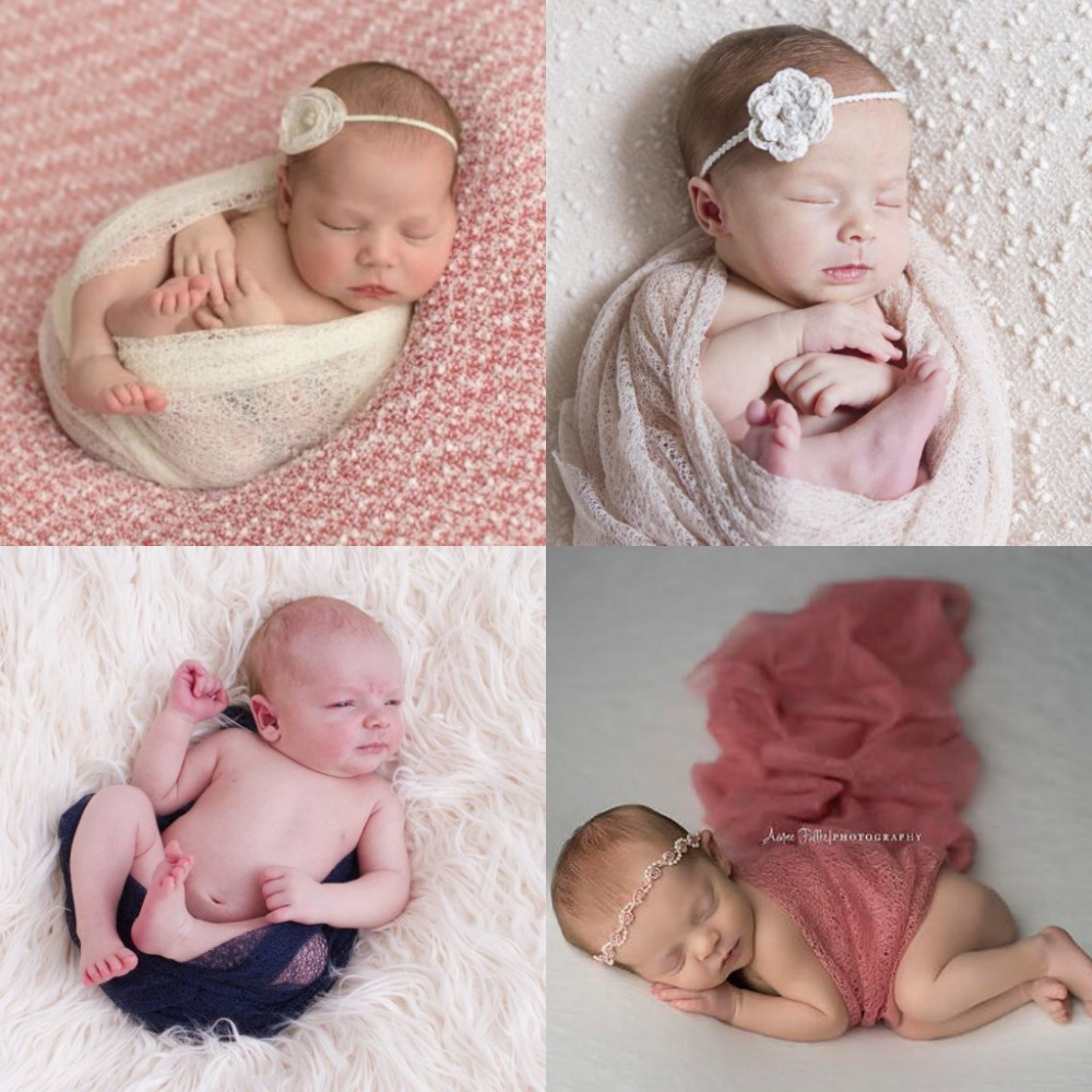 160*50cm Mesh Gauze Cheesecloth Wraps Baby To Maternity Newborn Photography Props Hammocks For Newborn Photo