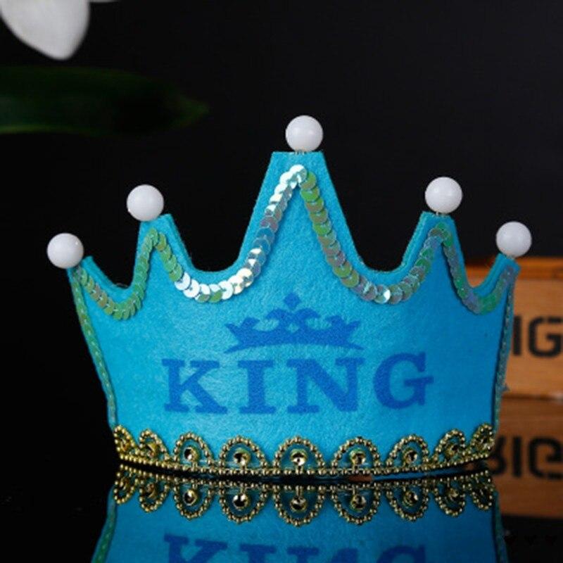 Красочные светодиодные День рождения с головным убором Детские корона украшения для душа реквизит для фотосессии - Цвет: F