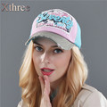 Xthree summer baseball cap women snapback caps girl net cap casquette embroidery letter cap bone hats for men women apparel