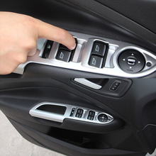 цены For Ford Escape Kuga 2017 2018 For Left hand Driving ABS Matte Inner Door Handle Armrest Window Lift Switch Panel Cover 4Pcs