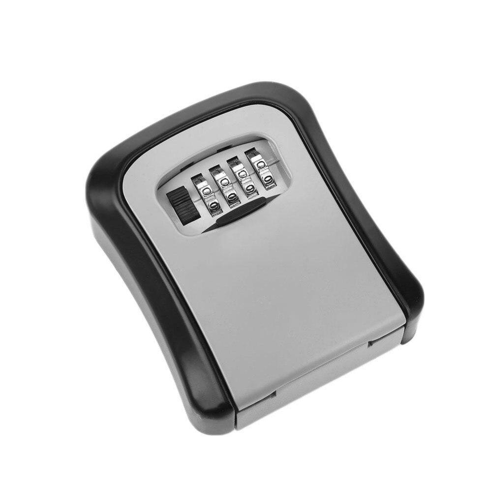 Outdoor Safe Key Box Key Storage Organizer With 4 Digit Wall Mounted Combination Password Keys Hook Organizer Boxes