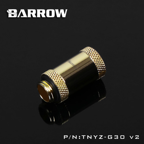 Barrow TNYZ-G30V2, 30mm Male To Female Extender Fittings, G1 / 4 Male To Female Water Cooling Fittings