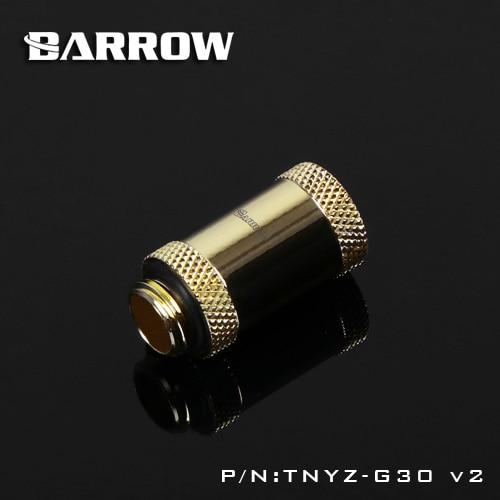 Barrow TNYZ-G30V2, 30mm Male To Female Extender Fittings, G1 / 4 Male To Female Water Cooling Fittings
