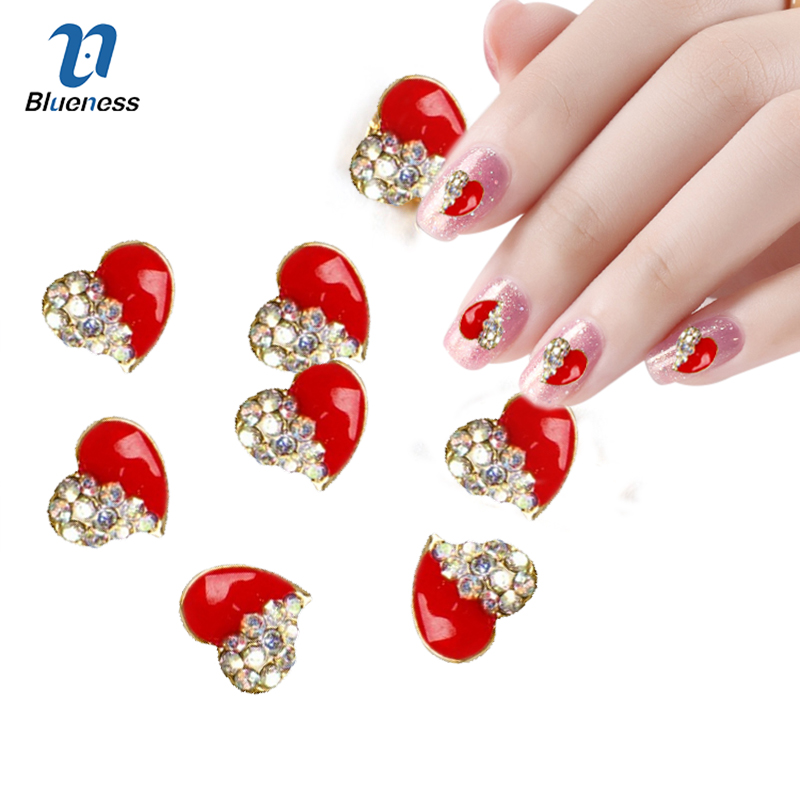 10pcs Golden Metal Heart Rhinestones 3d Nail Art Decorations, Alloy Nail Stcikers Charms Jewelry for Nail Gel/Polish Tools TN044 sol gel derived metal oxides nanostructure for biosensing applications