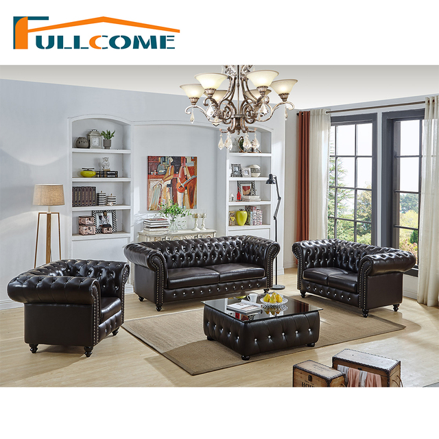 China Luxury Home Furniture Modern Leather Scandinavian Sofa Love Seat Chair Living Room Feather Italian Chesterfield