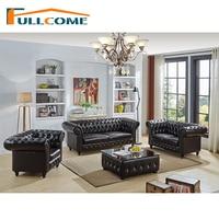China Luxury Home Furniture Modern Leather Scandinavian Sofa Love Seat Chair Living Room Feather Italian Chesterfield UK Divani
