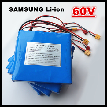 100% NEWEST For SAMSUNG 60V 132WH 2.2AH Dynamic Lithium ion Battery 2200mAh for Electric unicycles,E-scooters Power Source