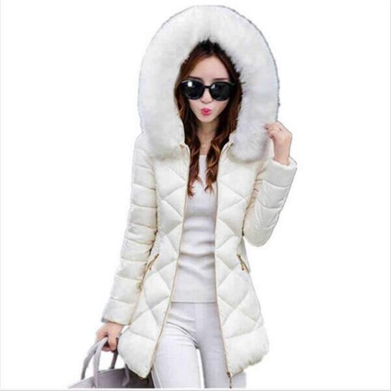TYJTJY Vestidos Winter Jacket Women 2017 Winter Coat Women fur collar hooded warm winter coat Parkas