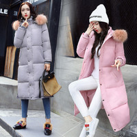 Winter Fashion Womens Long Cotton Coats With Fur Collar Hooded Self Cultivation Hot Sale Maternity Clothings