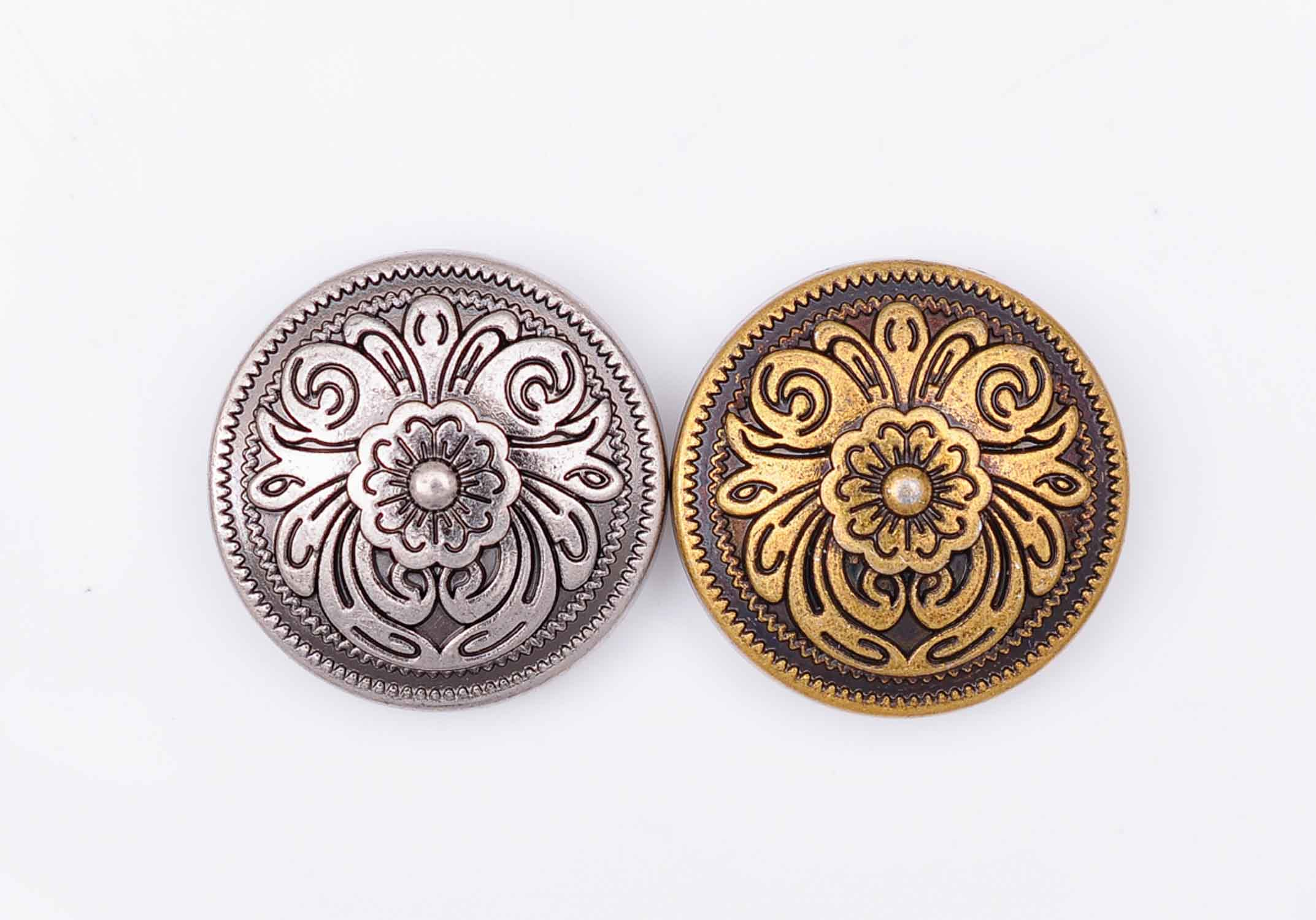 20X 20*20mm Antique Brass/Silver Western Cowboy Flower Conchos Button For Saddles Headstall Bridle Leathercraft Decor