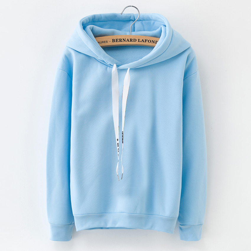 HTB1uTCCASBYBeNjy0Feq6znmFXaS - Hoodies Women 2018 Brand Female Long Sleeve Solid Color Hooded Sweatshirt Hoodie Tracksuit Sweat Coat Casual Sportswear S-3XL