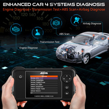 Automotive ODB Diagnostic Tool ABS SRS Transmission Engine OBD2 Multi Languages