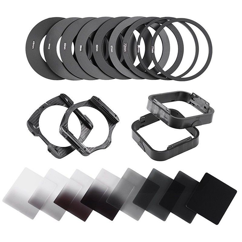 21 stück set Platz Neutral Dichte <font><b>ND</b></font> 2 4 8 <font><b>16</b></font> <font><b>Filter</b></font> Kit für Cokin P + Halter + Adapter ringe image