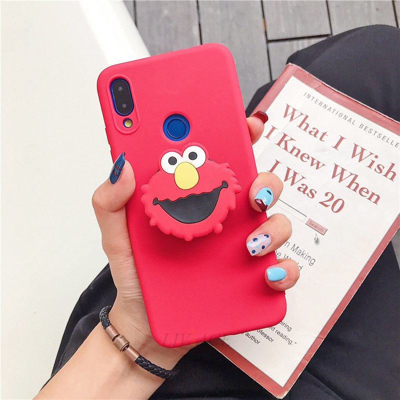 3D Cartoon Silicone Phone Standing Case for Xiaomi And Redmi Phones 23