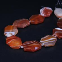 Hot!Natural Green Agate Slice Nugget Pendant Beads Stripe Faceted Slab Beads Stone Necklace Jewelry Pendant