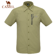 CAMEL men's outdoor fast drying wicking quick-drying short-sleeved shirt authentic
