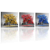 Black and White Autumn Tree Painting Prints Creative Canvas Wall Art Home Decoration Artwork Best Buy Photos Prints (No Frame)