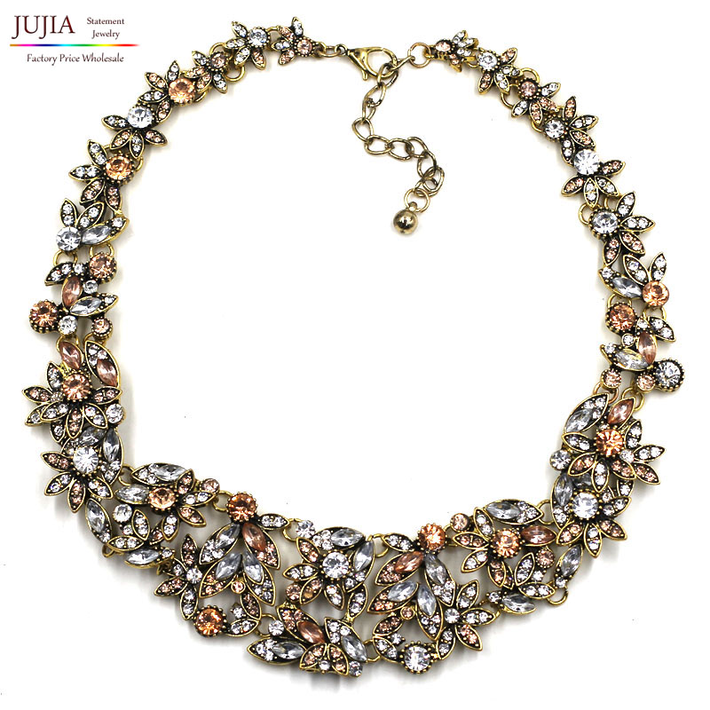 2015 z necklaces fashion party chunky luxury choker metal pendants necklace statement jewelry wholesale for women