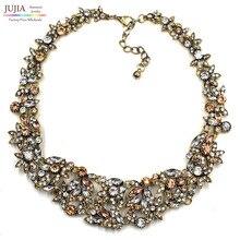 2015 z collares fiesta de la moda chunky joyería declaración de lujo gargantilla de metal collar de los colgantes al por mayor para las mujeres