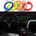 Beler 2 м EL-Wire гибкий 12В Автомобильный Декор интерьера флуоресцентная неоновая полоса холодный светильник лента для VW Audi Ford Toyota Nissan Chevrolet