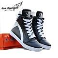 Новая Мода Череп Обувь Цвет Блока Мужская Обувь PU Кожа Высокого верха Обуви Хип-Хоп Личности Sapatos Masculinos