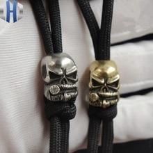 Cigar Skull Flashlight EDC Umbrella Cordon Handle Handmade DIY Pendants