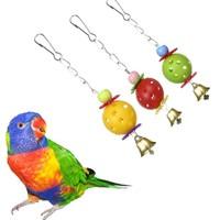 Parrot Toys Pet   Bird   Bites Climb Chew Toys Bell Swing Cage Hanging Parakeet Budgie Products Pet   Bird     Supplies     Birds   Accessoires