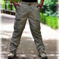 100% Nylon Men Camping Removable Quick Drying Pants Quality Waterproof Detachable Trekking Trousers Travel Nylon Pants