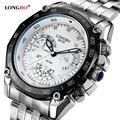 Multifunción Relojes de Pulsera de Negocios LONGBO Relojes de Los Hombres Top Luxury Brand Hombres Digital Relojes de Cuarzo Reloj de Acero Llena Militar