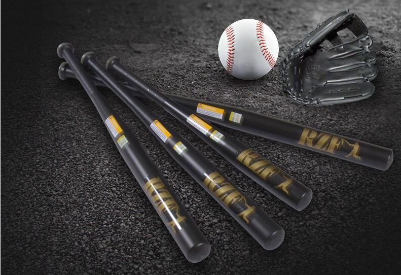 Top Quality! 30inch Alloy Steel Baseball Bat Black Softball Bat Multipurpose Self-Defense Security Stick,Free Shipping
