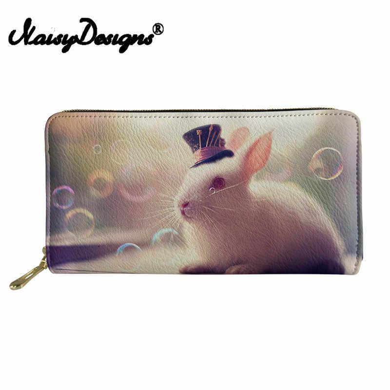 Noisydesigns Cüzdan Kadın bozuk para cüzdanı Kızlar için PU Deri Cüzdan 3D Tavşan Hamster Bayan bozuk para çantaları ve Tutucular Debriyaj Kadın