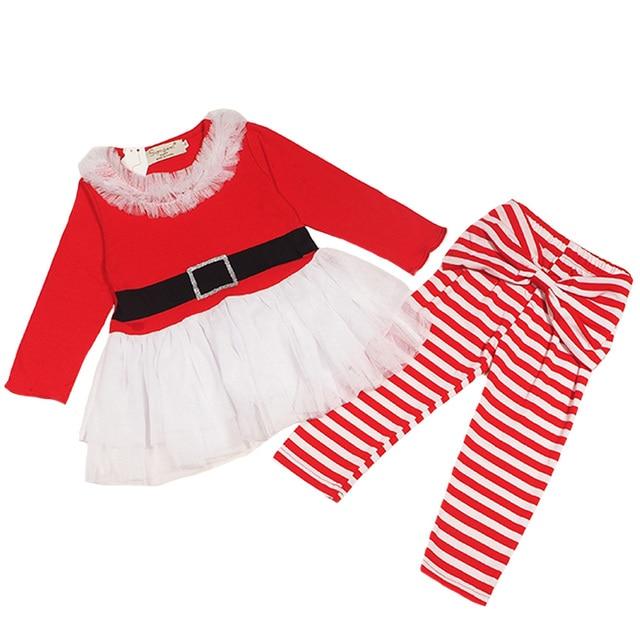 56046febda SAMGAMI bebé 2018 nuevo Santa Claus ropa niñas vestido + Pantalones unids 2  piezas trajes niños. Sitúa el cursor encima para ...