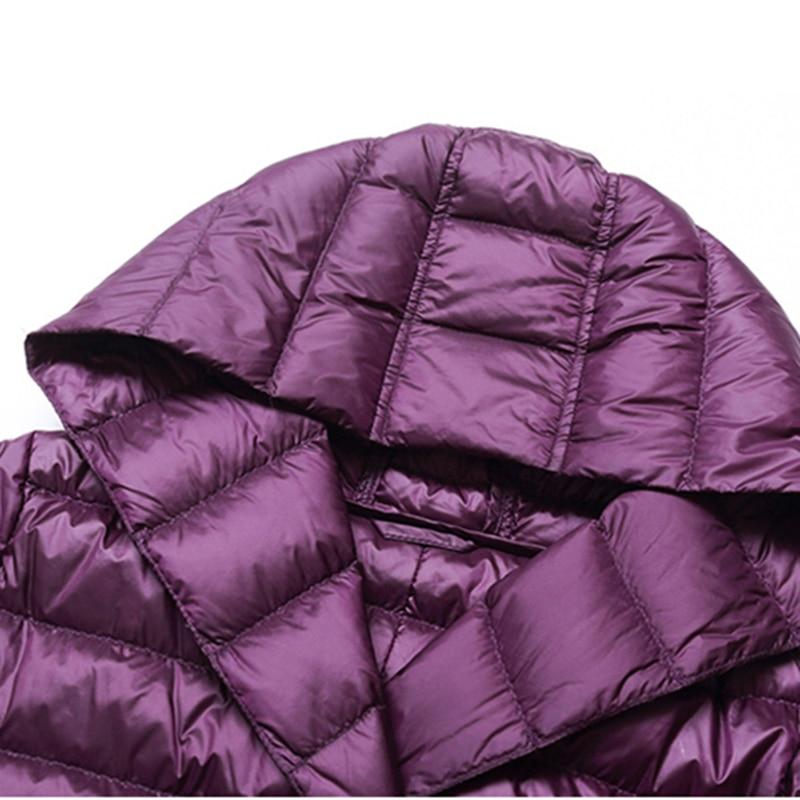 Nouveau Vestes Coton black armygreen red Hiver silver Purple Manteau Haute Qualité Longues De Mince Couleur Femmes Capuche Longue Mode Wk189 À Lumière Solide Manches 2019 gxq4Ux0w