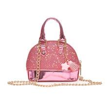 Aranyos Baby Toddler gyermek váll táskák Bőr lánnyal kereszttáskás táska Mini méretű lánc fénye Rock Shell táskák Női kis kézitáskák