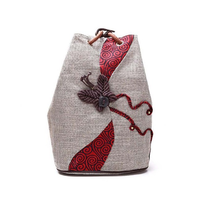 Chinese retro style women canvas backpack butterfly ethnic backpacks  drawstring backpack girl shoulder bags f283ac57007e0