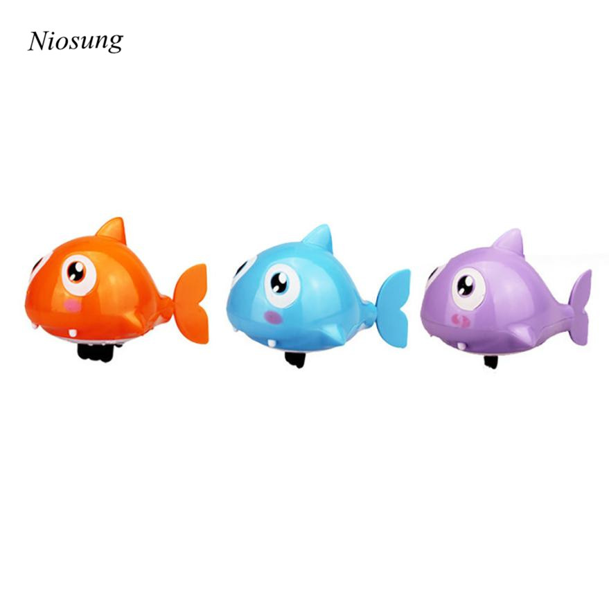 Niosung Swimming Ugly fish Operated Pool Bath Cute Toy Wind-Up Baby Kids Toy Gift