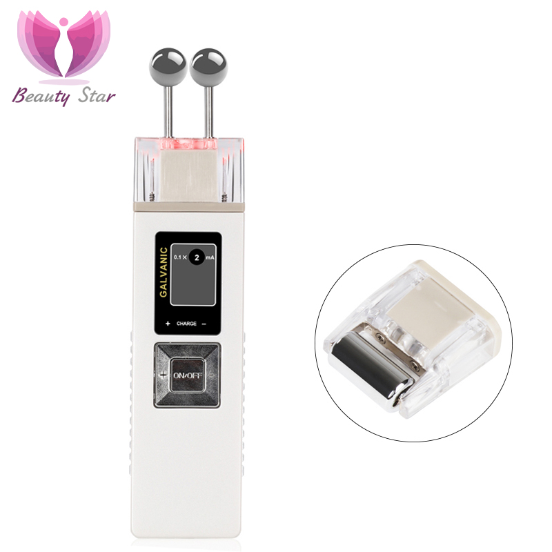 Beauty Star Ion Galvanic Microcurrent Skin Firming Machine Skin Care Wrinkle Removal Facial Massager Iontophoresis Face Clean
