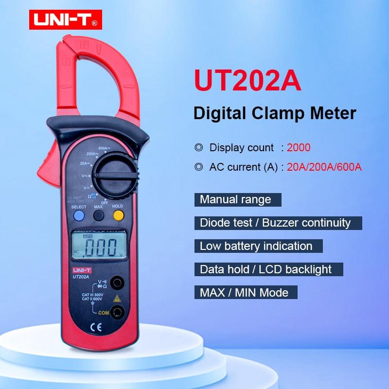 AC Current Resistance Diode Measurement Mini LCD Digital Clamp Multimeter DC