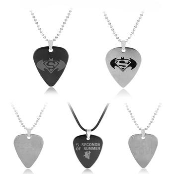Dongsheng moda muzyka 5 po drugie lato Logo serce wisiorek naszyjnik zespół rockowy Punk czarny naszyjnik na lince naszyjnik biżuteria-30