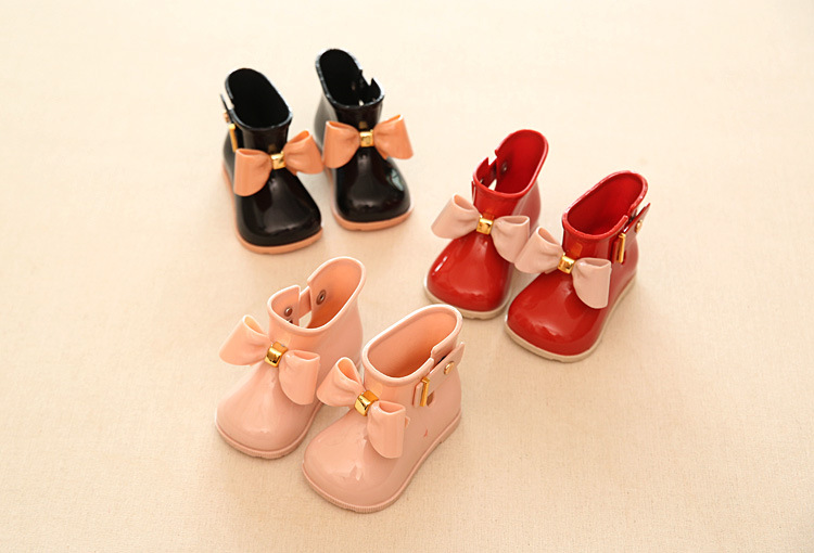 Waterproof Child Rubber Boots Jelly Soft Infant Shoe Girl Boots Baby Rain Boots Kids Wit ...