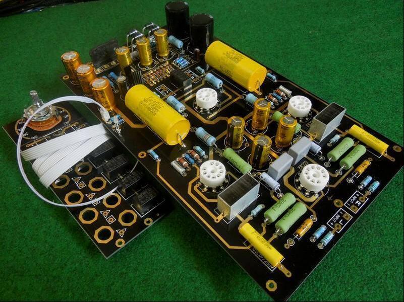 Douk Audio America CAT SL-1 Tube Preamp Stereo HiFi Preamplifier Assembled Board Free Shipping