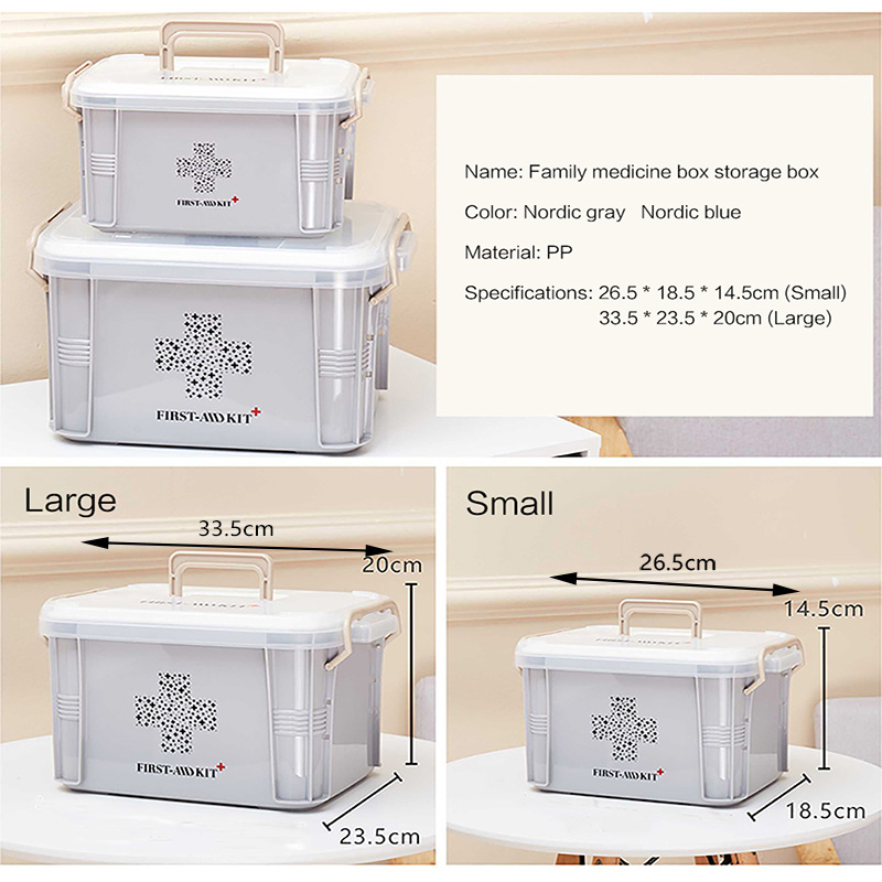 US $10 79 Baffect First Aid Kit Box Medicine Box Plastic Container